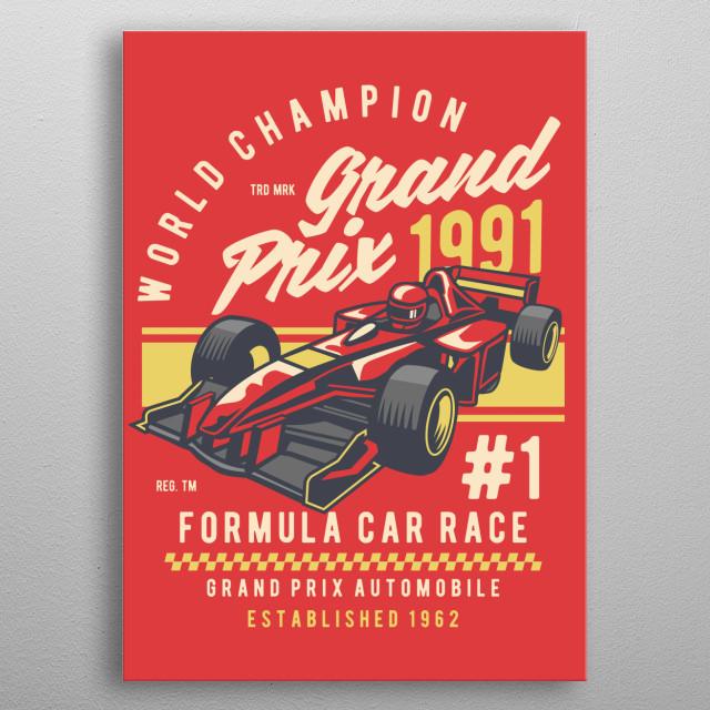 Formula Car Race metal poster