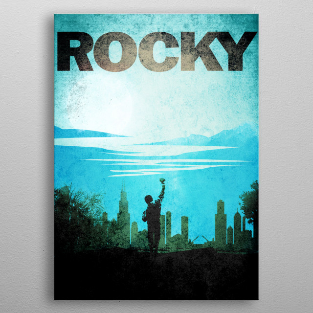 Rocky  the boxer metal poster