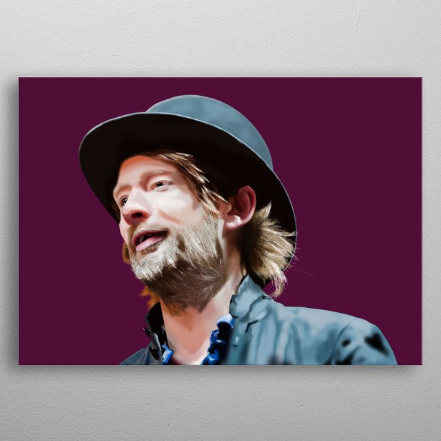 This illustration is a tribute to the radiohead of the band RadioHead, Thom Yorkes  metal poster