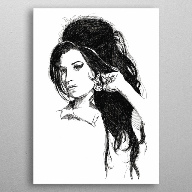 Amy Winehouse. Penart. metal poster
