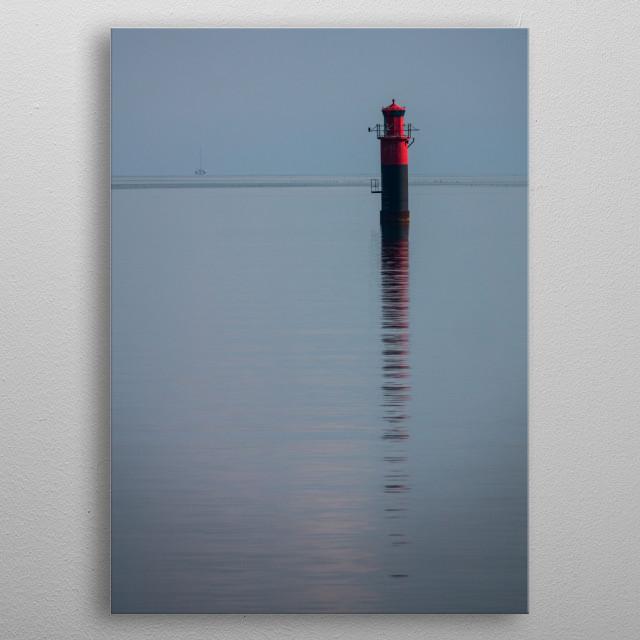 Lighthouse on the swedish east coast metal poster
