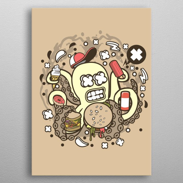 High-quality metal print from amazing Cartoon Illustrations collection will bring unique style to your space and will show off your personality. metal poster
