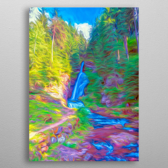 waterfall on the River metal poster
