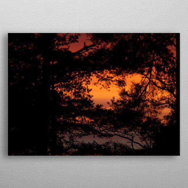 Sunset  metal poster