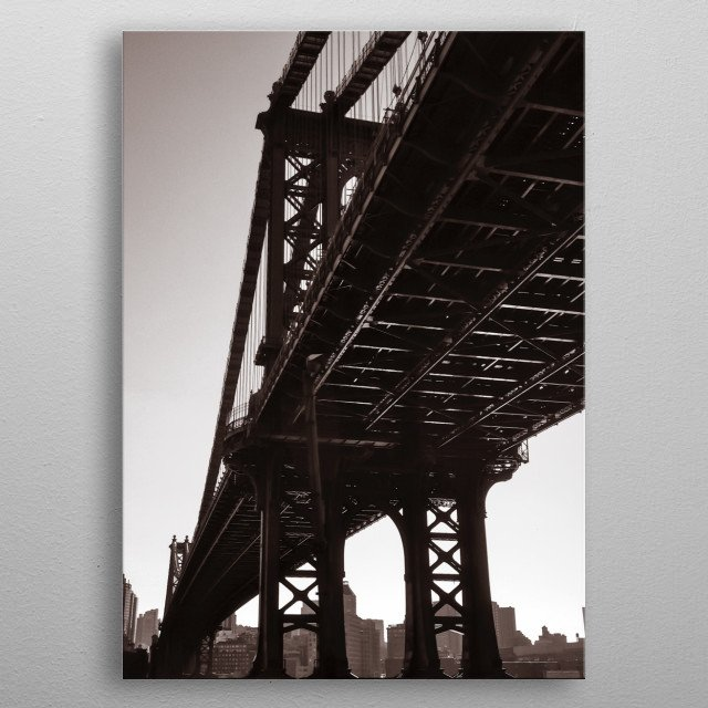 Manhattan Bridge  metal poster