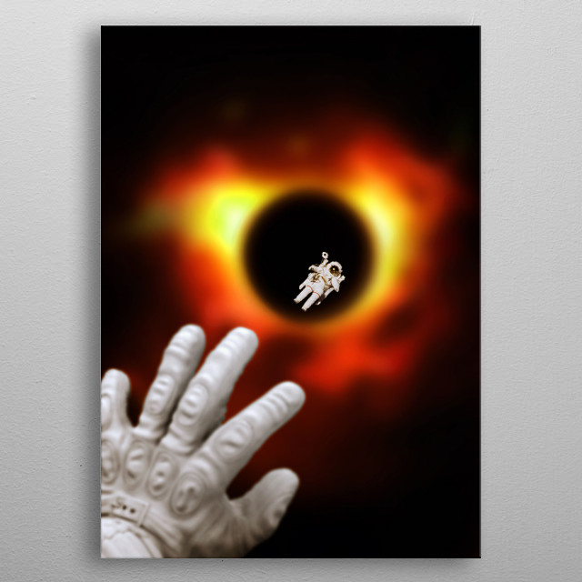 The Fist Black Hole Image is an artwork inspired on first Black Hole image by Katie Bouman. metal poster