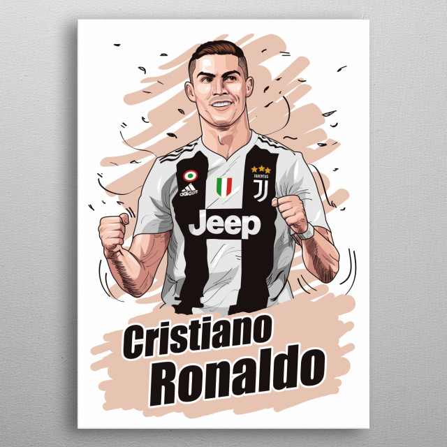cristiano ronaldo is my inspiration and profesional footballer metal poster