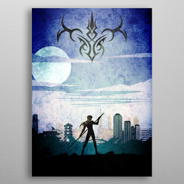 Fate Stay Night Lancer metal poster