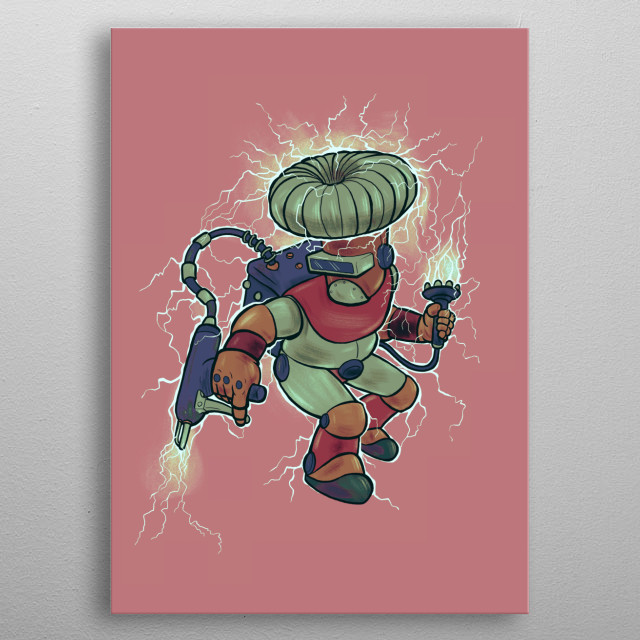This hero will ZAP your inner demon out from you. metal poster