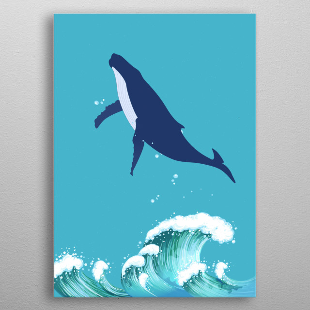 Beautiful Whale  metal poster