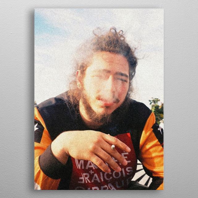 Post Malone smoking some metal poster