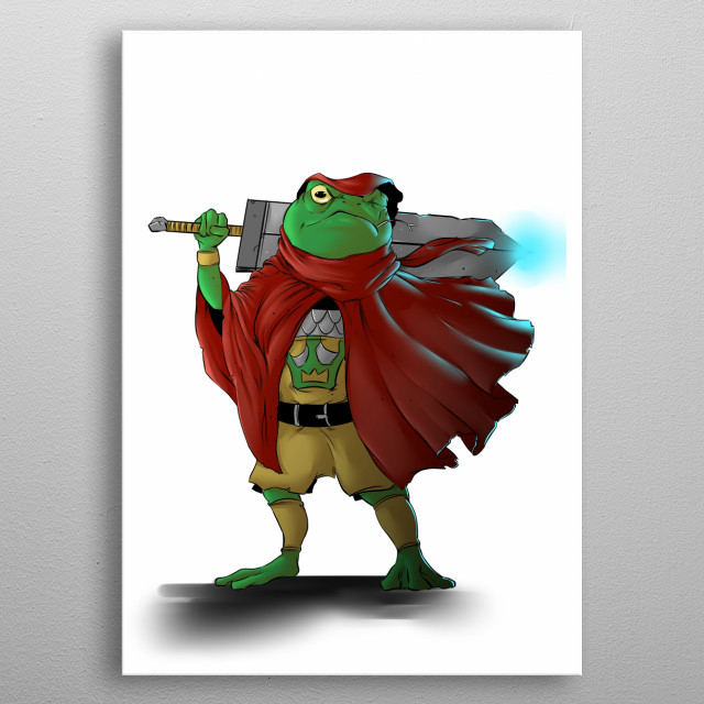 I created a knight frog. metal poster