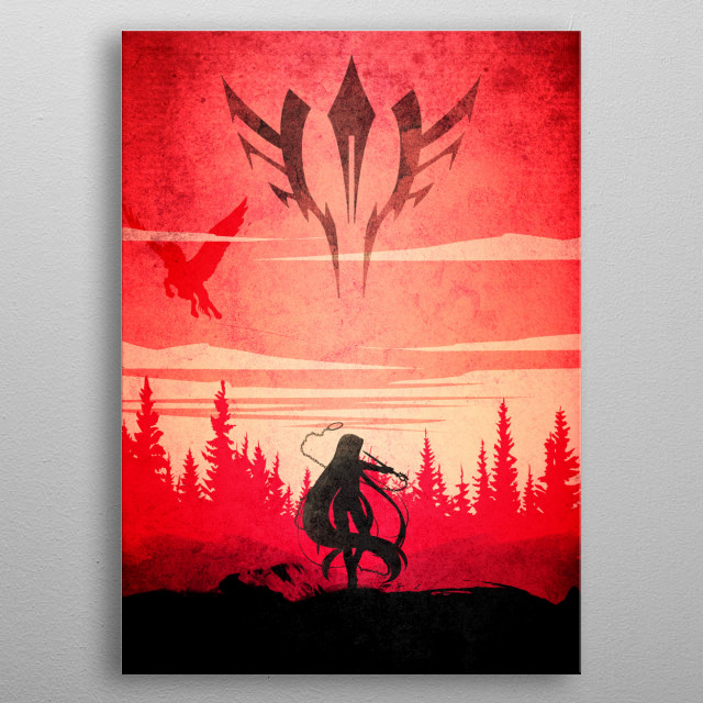 Rider Fate metal poster