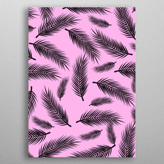 FEATHER PATTERN metal poster