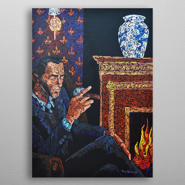 #2 'The Tranquility Of The Morning' - The Art Of Sherlock Holmes West Palm Beach Edition - Artist Tracy Guiteau - Author Mike Hogan. metal poster