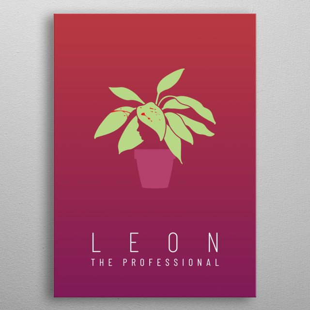 Minimalist poster for the movie Leon: the Professional metal poster