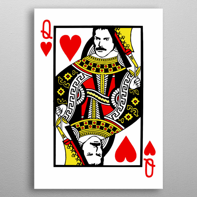 Do you love queen and freddie mercury? This fan art displate is perfect for queen lovers metal poster