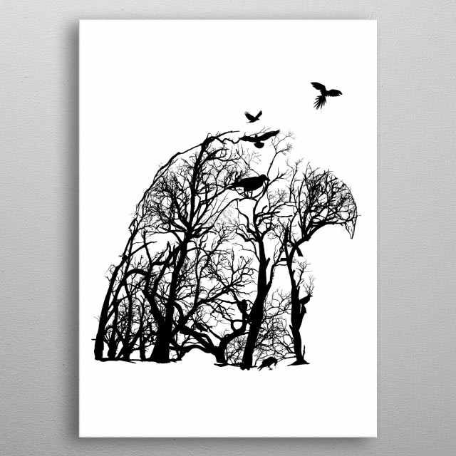 Eagle from trees of life collection metal poster