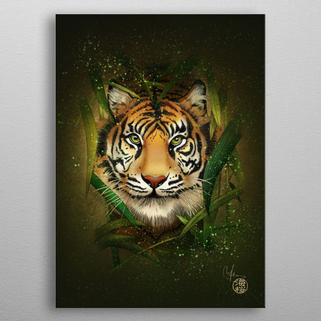 """""""The strength, courage and determination of the tiger are not enough to overcome the challenges to which nature submits us; we must also hav metal poster"""