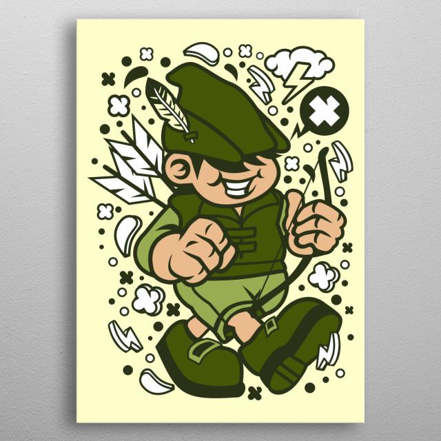Robin Hood Kid metal poster