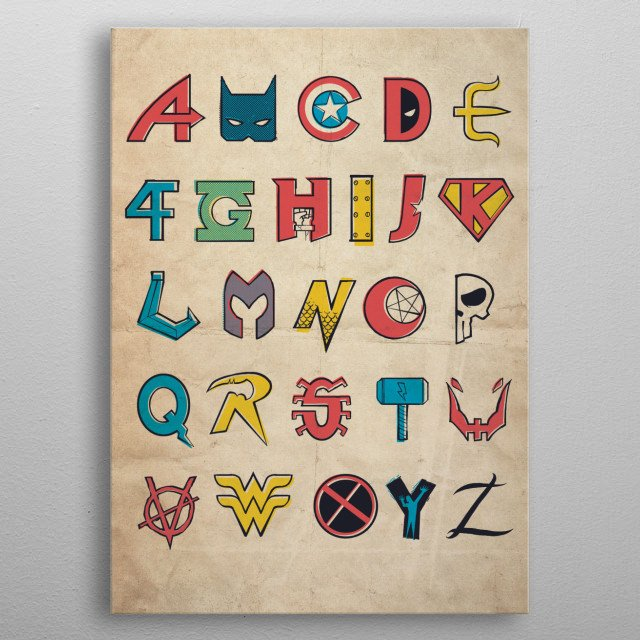 form A to Z metal poster