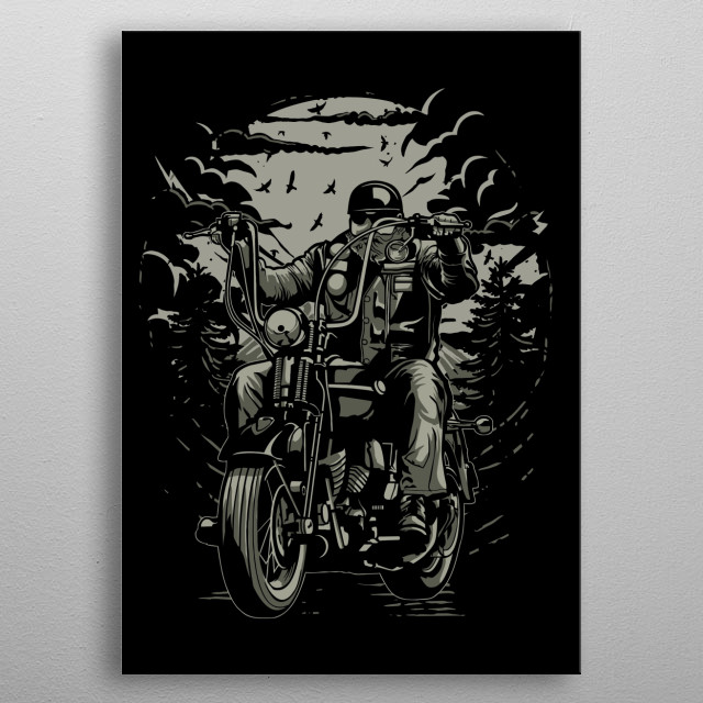 Live To Ride metal poster