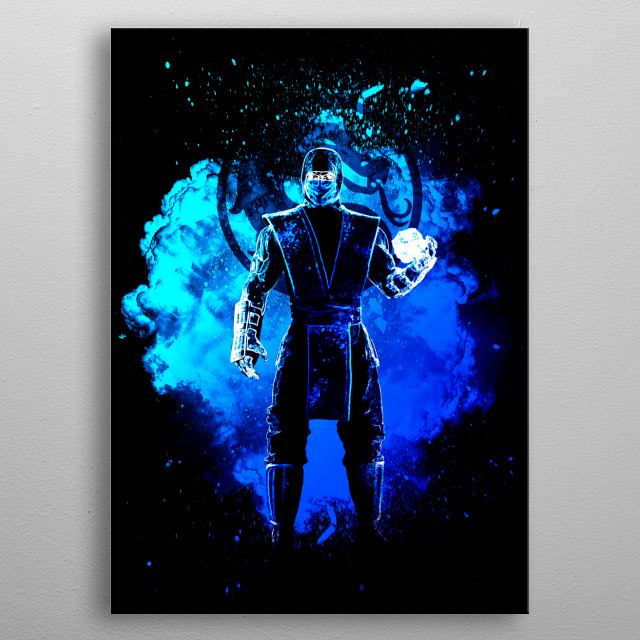 Black Silhouette of the ice ninja metal poster