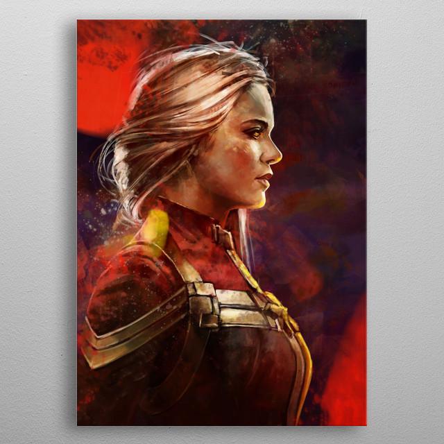 Carol Danvers metal poster