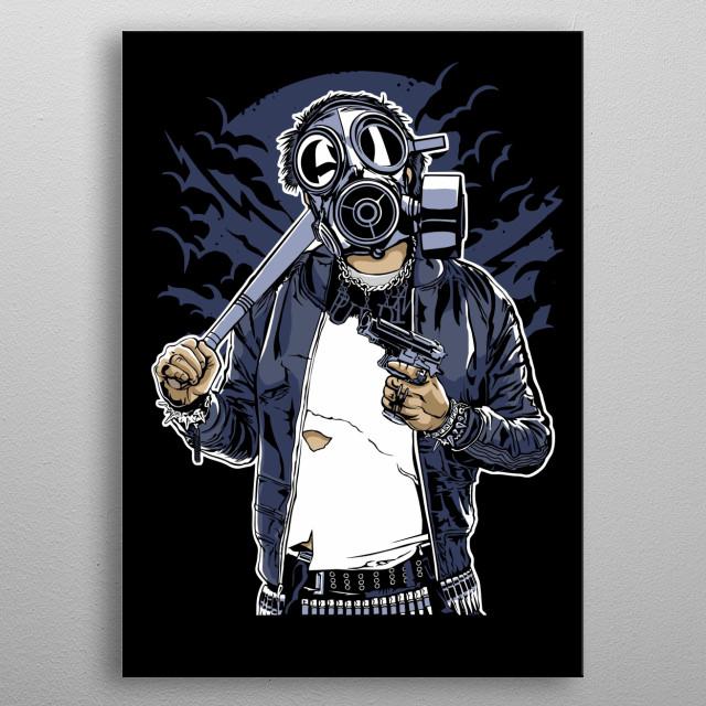 Gasmask Bastard metal poster
