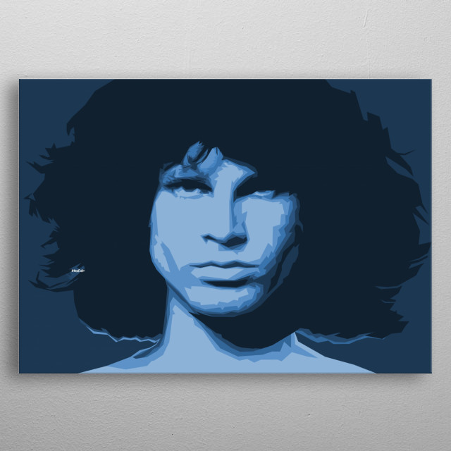 Computer graphic art print image file of morrison in minimal geometric style. metal poster