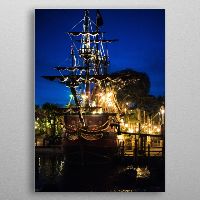 pirates of the carribbean metal poster