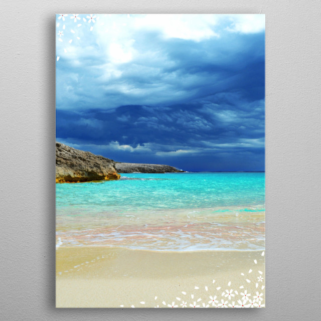 Menorca Beautiful Beach metal poster