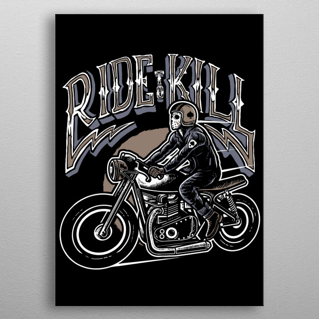 Ride To Kill metal poster