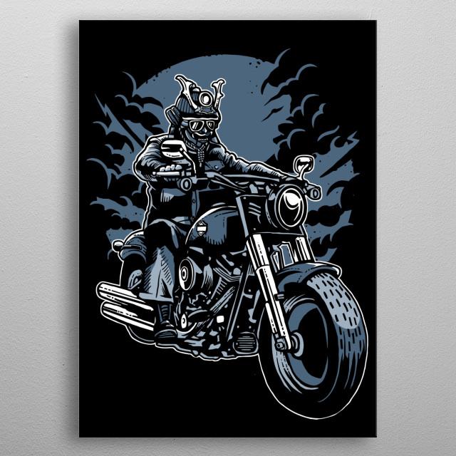 Samurai Ride metal poster