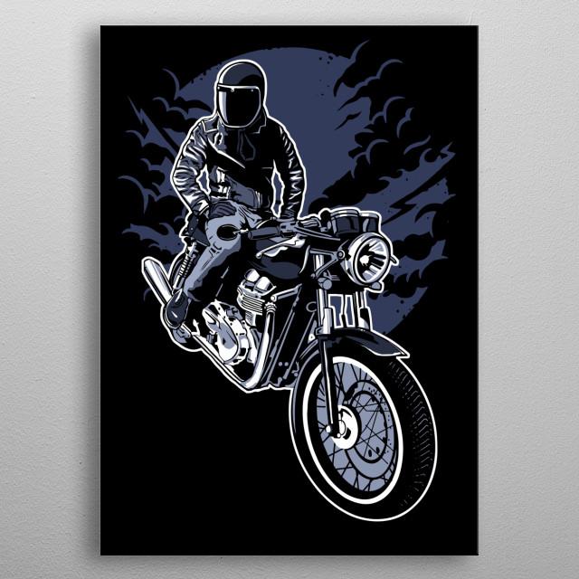 Night Rider metal poster