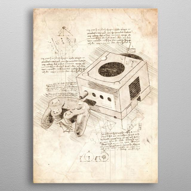 Sketch of a Nintendo GameCube metal poster
