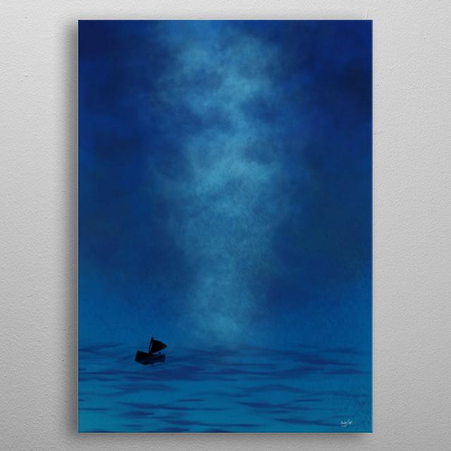 Ships exploring the sea metal poster