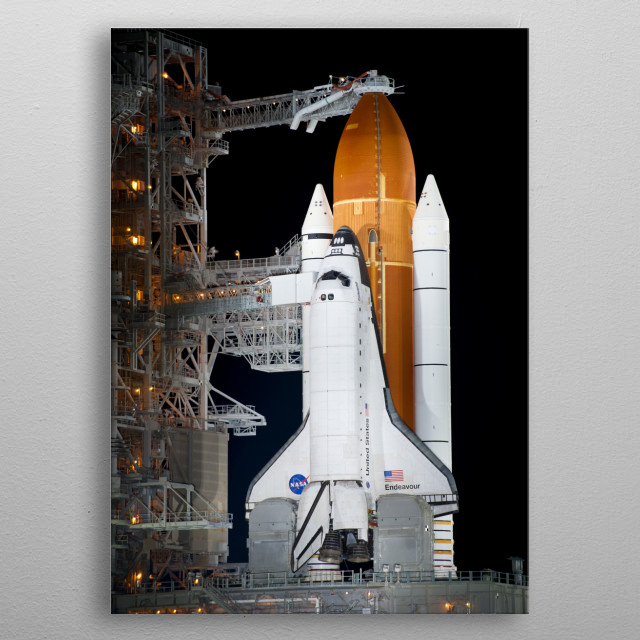 The Space Shuttle was a partially reusable low Earth orbital spacecraft system operated by the NASA. metal poster