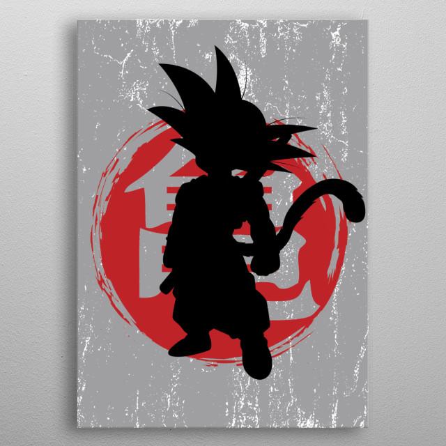 Silhouette Cool Goku metal poster