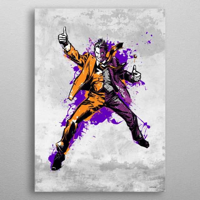 Two Face metal poster