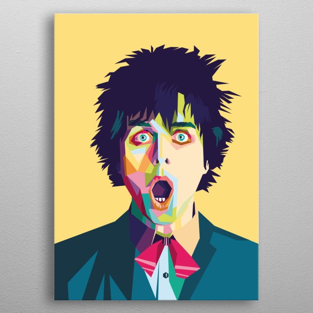 I am here designing Famous Musician Billie Joe Armstorng, He is a member of the Greenday band. I designing with WPAP design style. metal poster