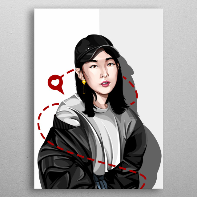 fanart nayeon twice little bunny software : adobe photoshop cc 2015 metal poster
