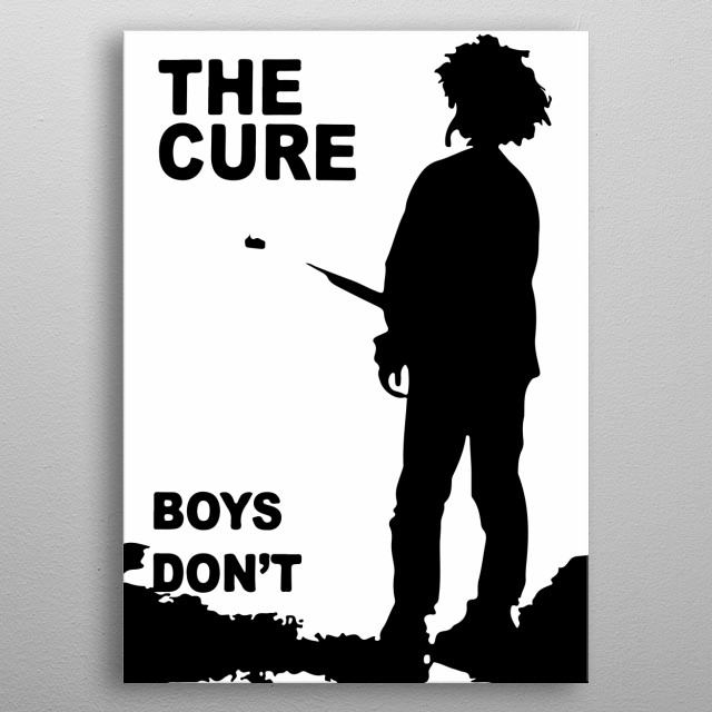 The cure band metal poster