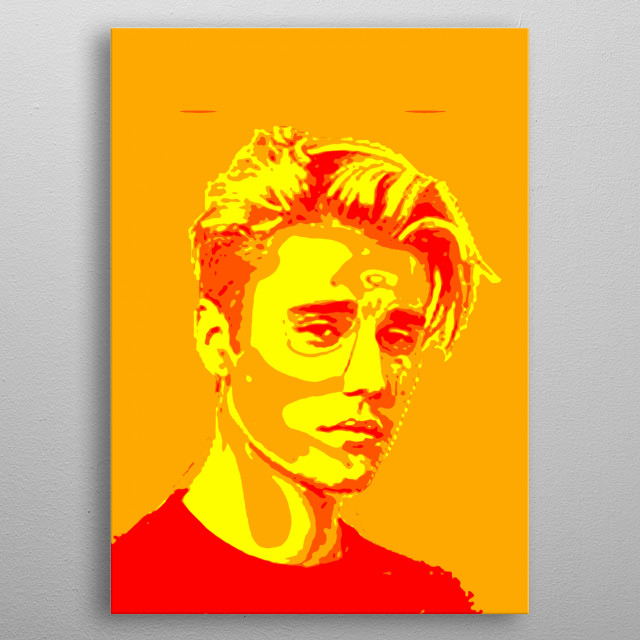 this colourful painting was inspired by Justin Bieber. love him xxx metal poster