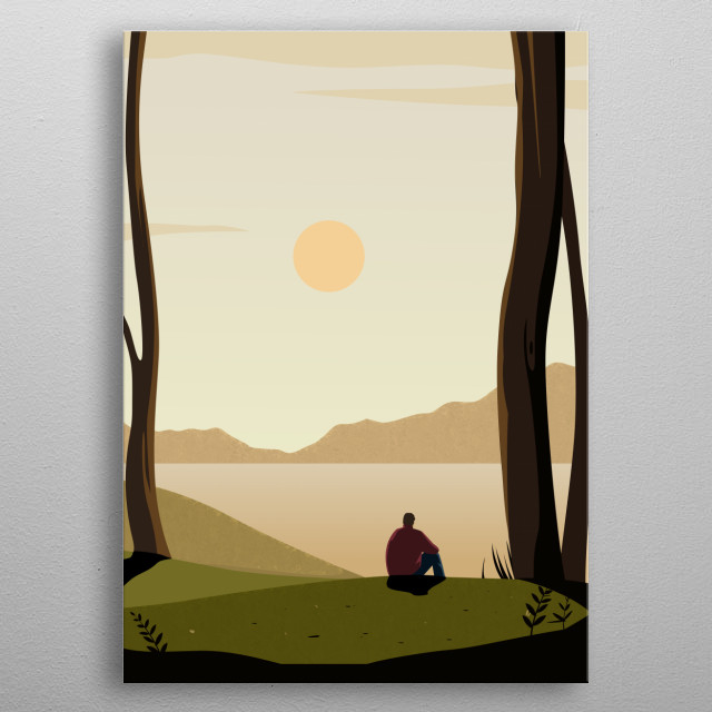 as like how light rises and sets, everything always changes metal poster