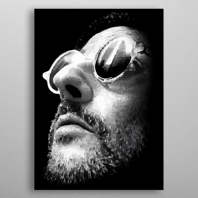 leon the professional film  metal poster