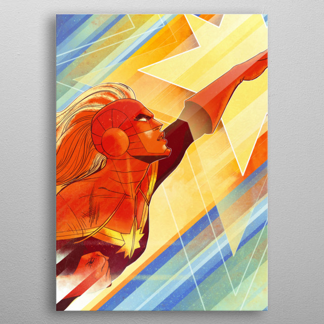 High-quality metal print from amazing Captain Marvel Marvel 80Th Anniversary collection will bring unique style to your space and will show off your personality. metal poster