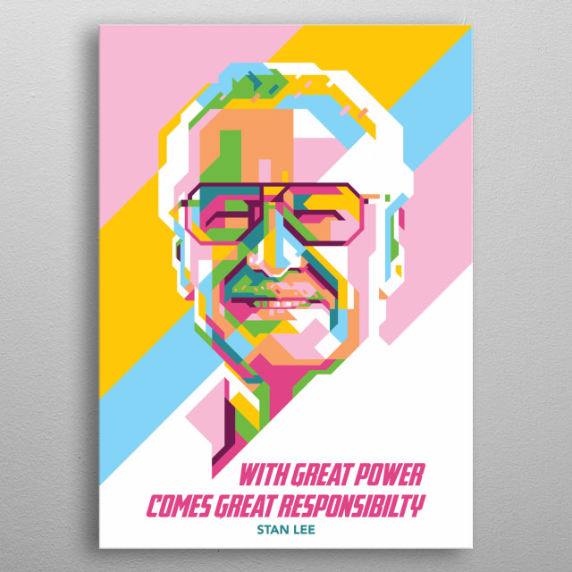 Stan Lee was an American comic book writer, editor, publisher, and producer. metal poster