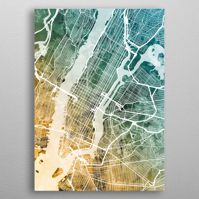 New York Map by Michael Tompsett | metal posters - Displate Manhattan Ny Street Map on street map hoboken nj, street map indianapolis in, real estate manhattan ny, street map lincoln ne, street map newport news va, hotel manhattan ny, street map jackson ms, street map las cruces nm, neighborhood map manhattan ny, street map lubbock tx, zip code map manhattan ny, attractions manhattan ny, street map silver spring md, street map meridian ms, street map metairie la, street map harrisonburg va, street map mankato mn, walking map manhattan ny, street map jersey city, street map mesa az,