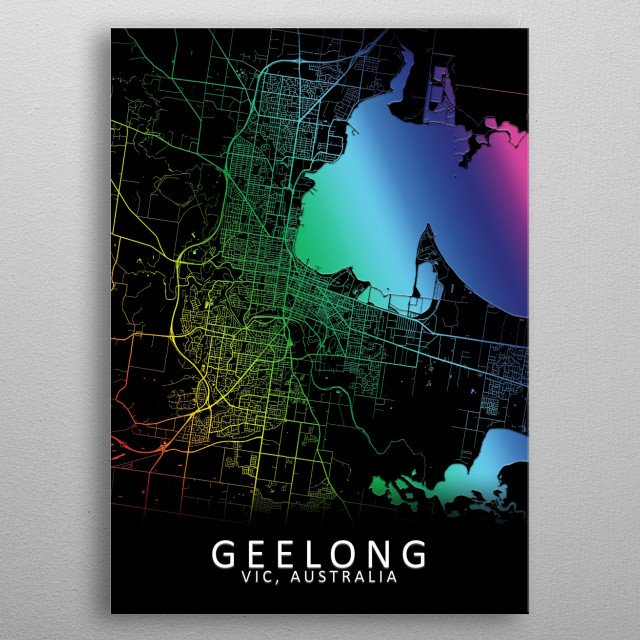 Fascinating metal poster designed by City Map Art Prints. Displate has a unique signature and hologram on the back to add authenticity to each design. metal poster